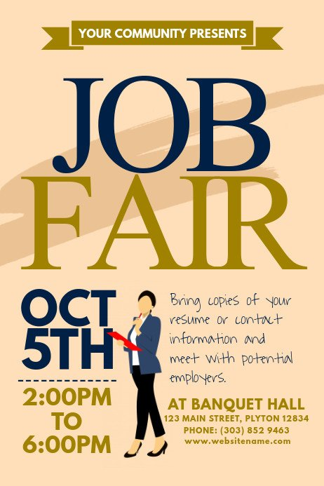 Job Fair Flyer Template Job Fair Poster Template
