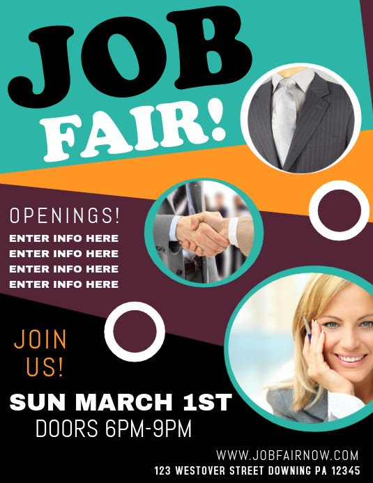 Job Fair Flyer Template Job Fair Template