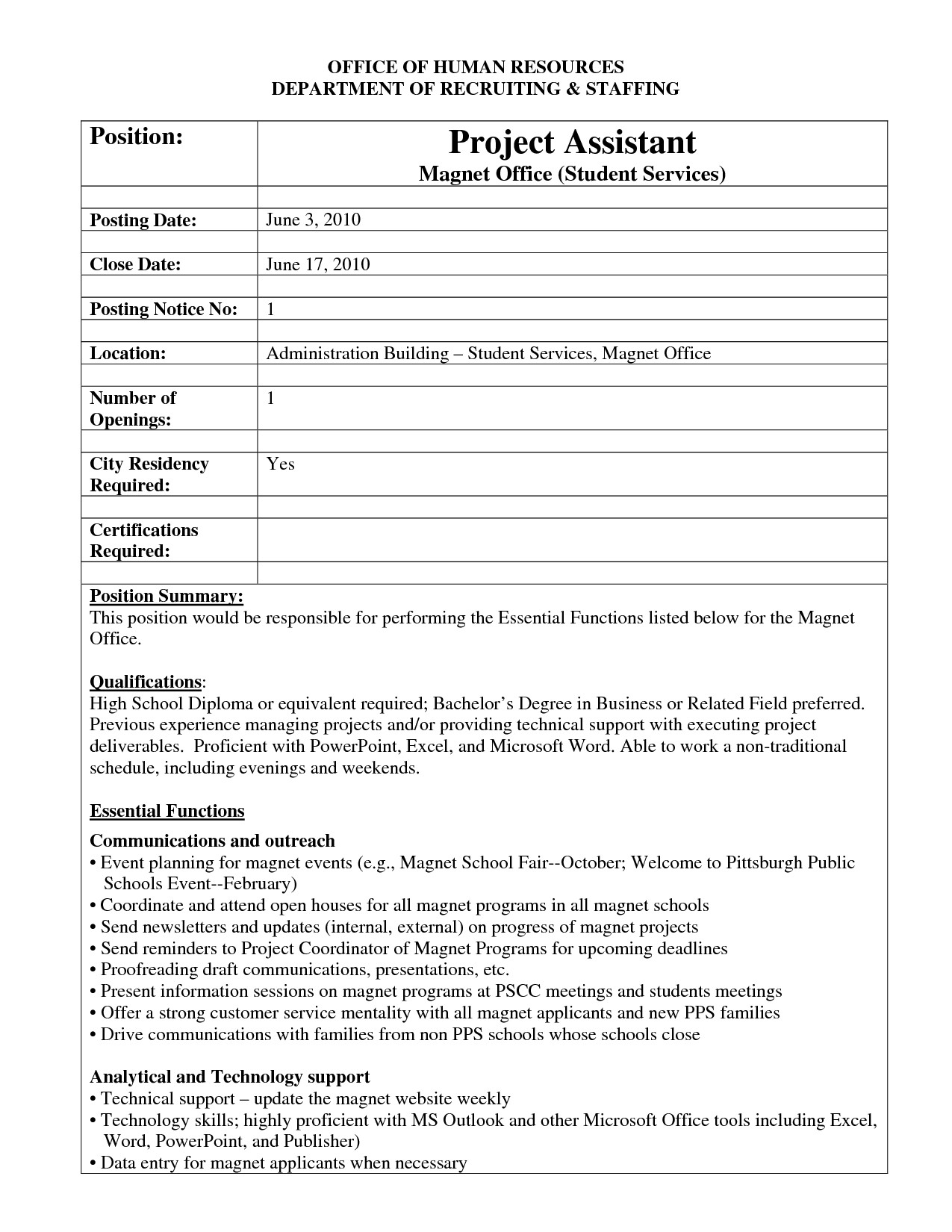 Job Posting Template Word Best S Of Internal Job Posting Template Word Resume