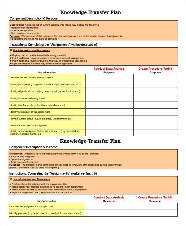 Job Transition Plan Template 8 Transition Plan Templates Word Pdf