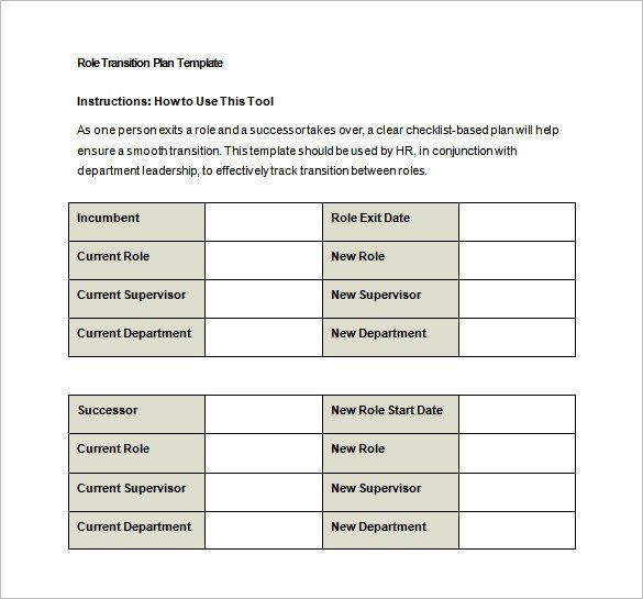 Job Transition Plan Template 9 Transition Plan Templates Free Word Pdf Documents