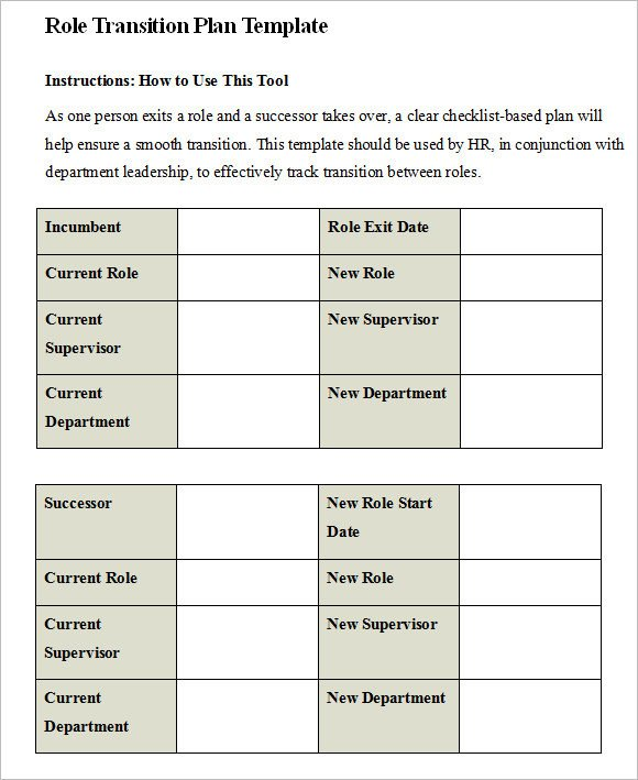 Job Transition Plan Template Transition Plan Template – 8 Free Samples Examples format