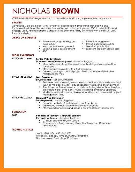 Junior Web Developer Resume 12 13 Resume Examples Web Developer