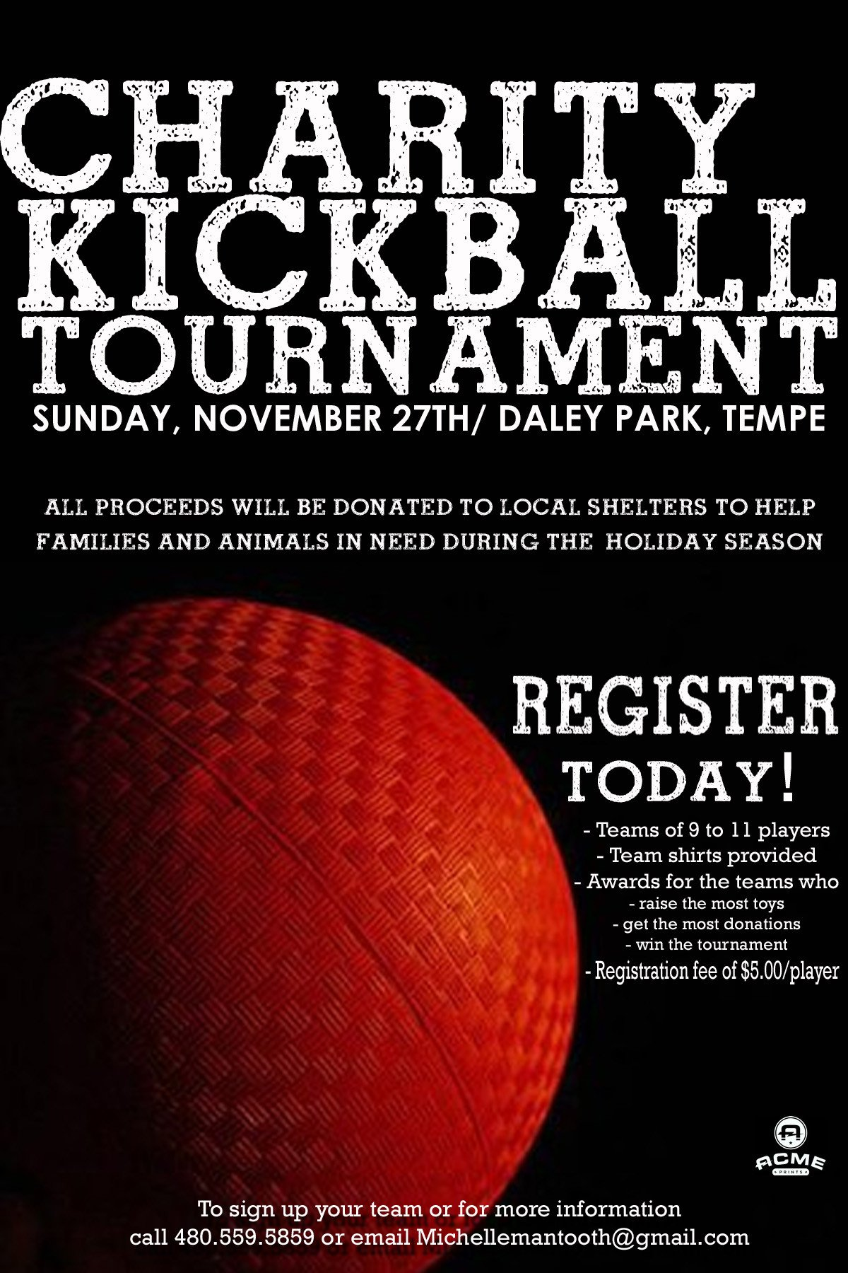 Kickball Roster Template Register for the Charity Kickball tournament today