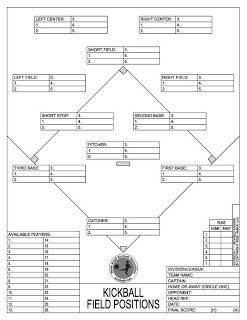 Kickball Roster Template Rock It Docket Kickball Schedule for Saturday