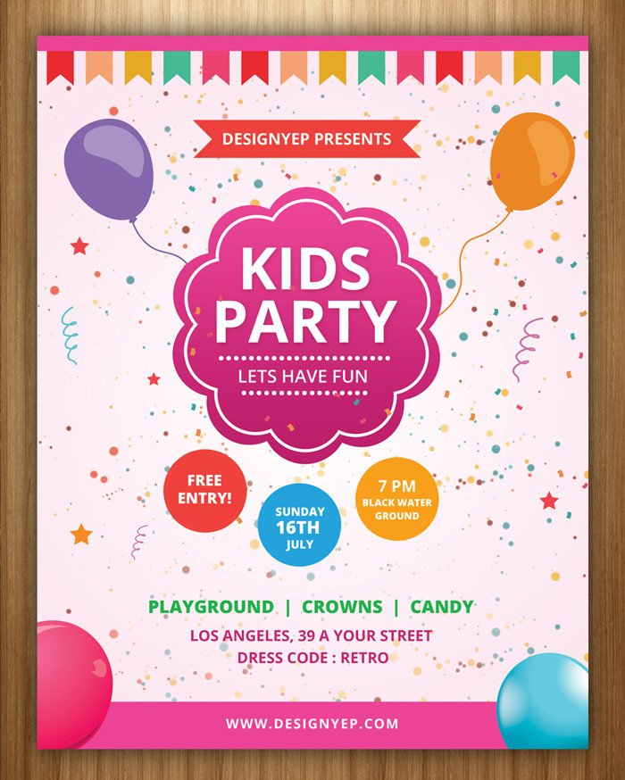 Kids Birthday Invitation Template 17 Free Birthday Invitation Templates Psd Designyep