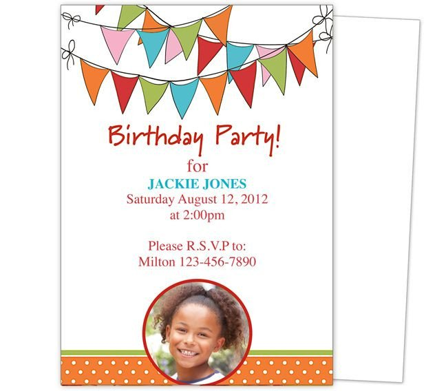 Kids Birthday Invitation Template 23 Best Images About Kids Birthday Party Invitation
