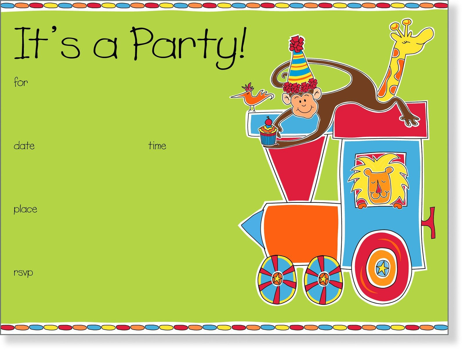 Kids Birthday Invitation Template 5 Best Of Email Background Templates Kids Party