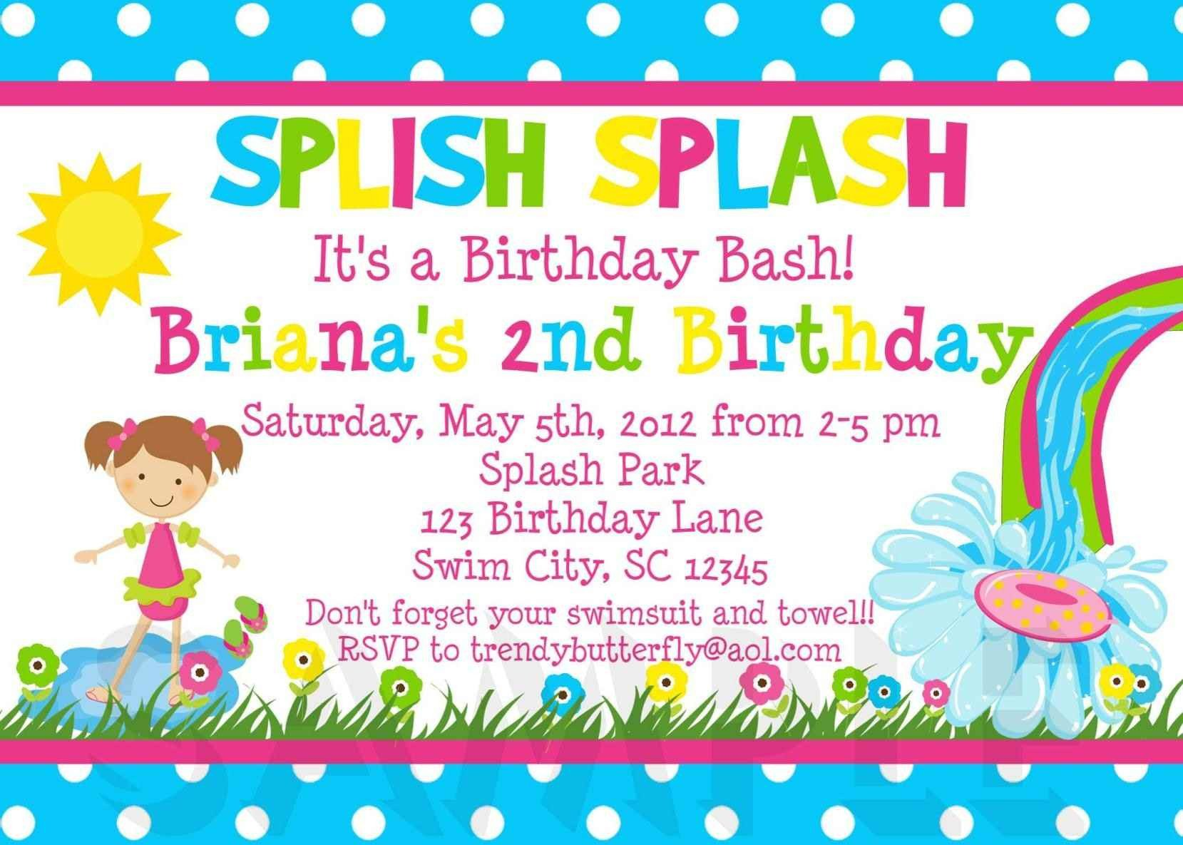 Kids Birthday Invitation Template Free Kids Party Invitation Templates Template Update234