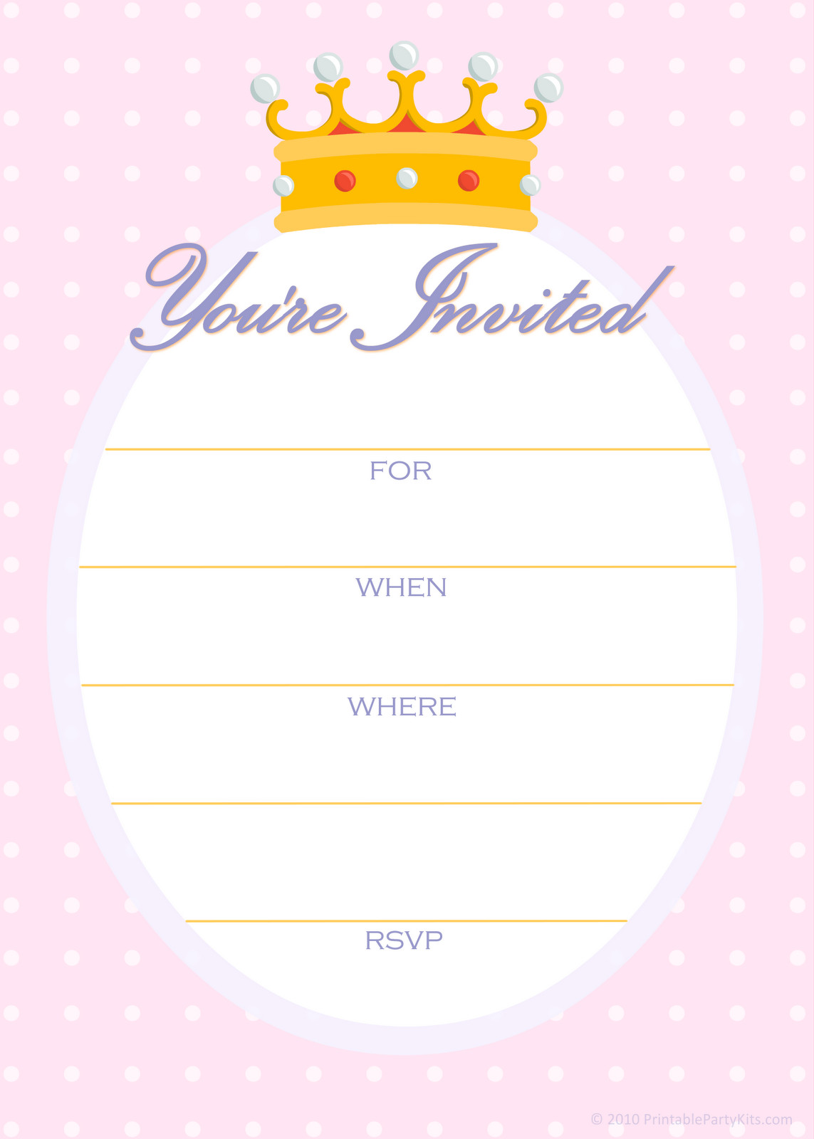 Kids Birthday Invitation Template Free Printable Party Invitations Free Invitations for A