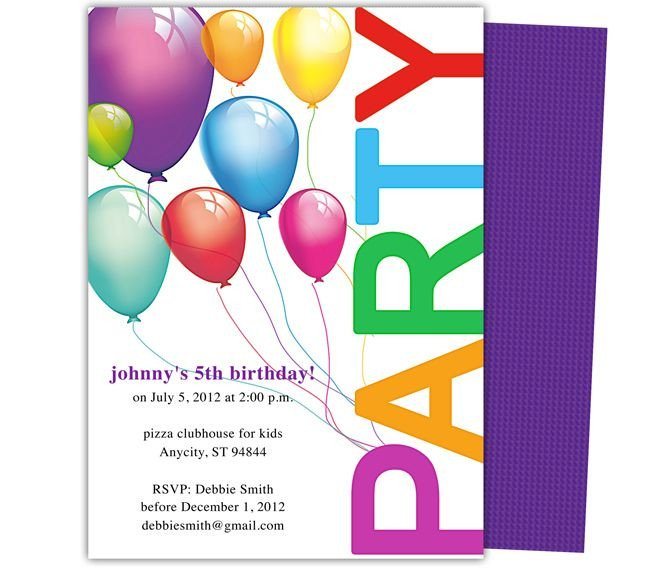 Kids Birthday Invitation Template Happy Birthday Invitation Templates My Birthday