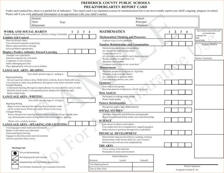 Kindergarten Report Card Template Best 25 Kindergarten Report Cards Ideas On Pinterest