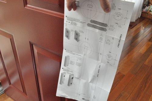 Kwikset Deadbolt Installation Template Front Door Keypads Schlage Vs Kwikset E Project Closer