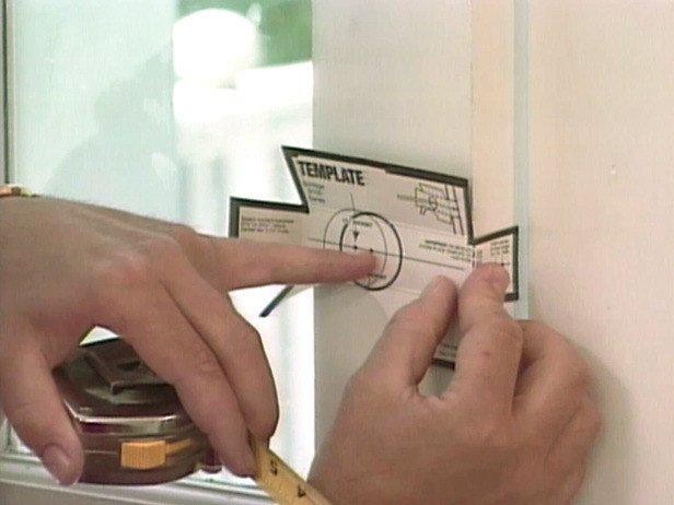 Kwikset Deadbolt Installation Template How to Install A Deadbolt Lock How tos