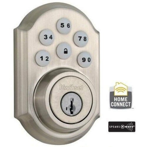 Kwikset Deadbolt Installation Template Kwikset Smartcode Keyless Entry W Z Wave 910 Satin Nickel