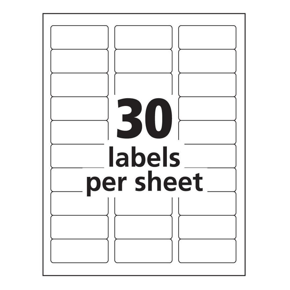 Label Template for Word Avery 8160 Label Template Word Templates Data