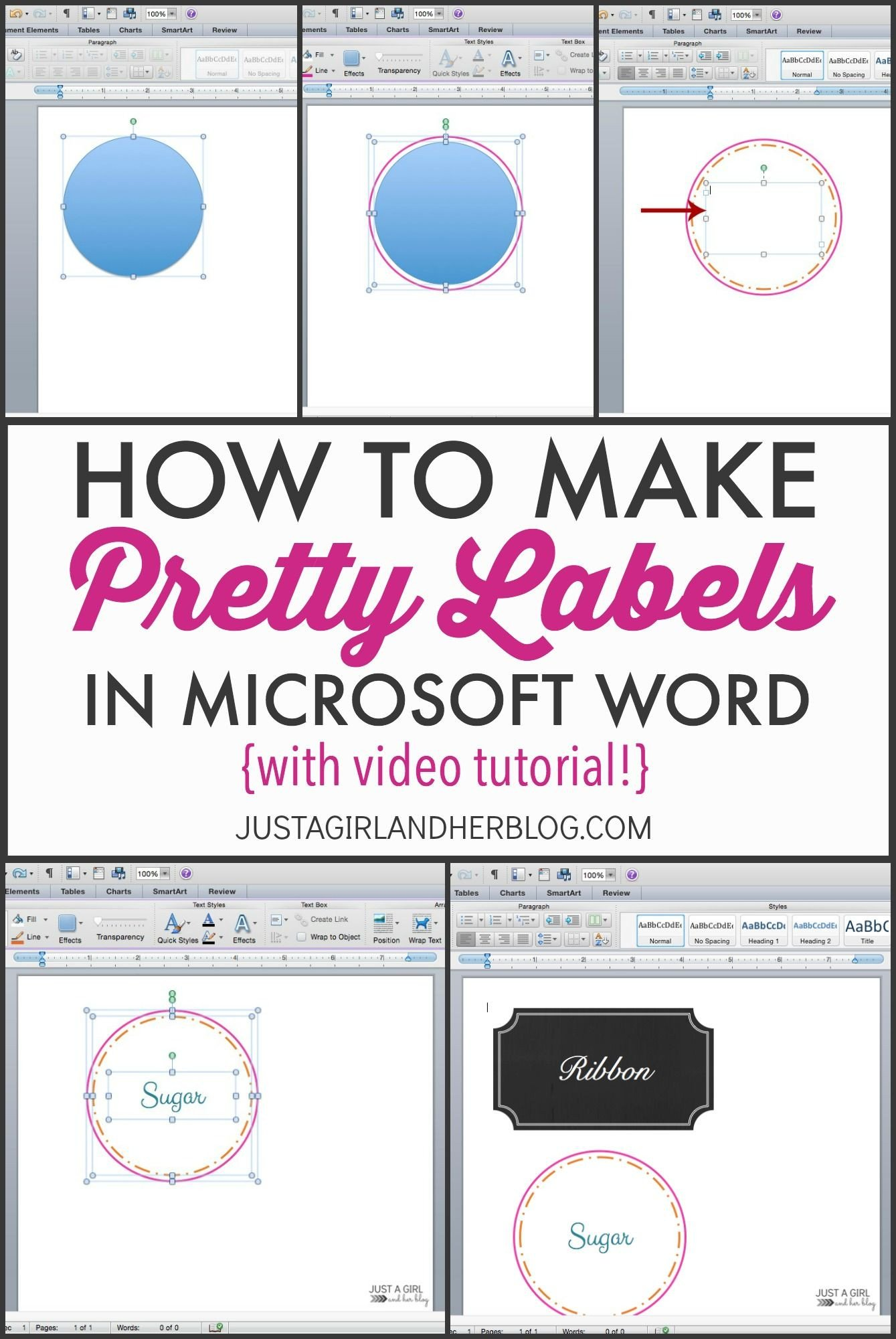 Label Template In Word Best 20 How to Make Labels Ideas On Pinterest
