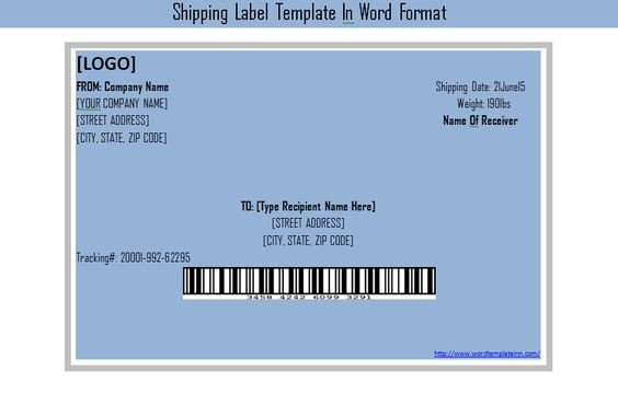 Label Template In Word Get Shipping Label Template In Word format