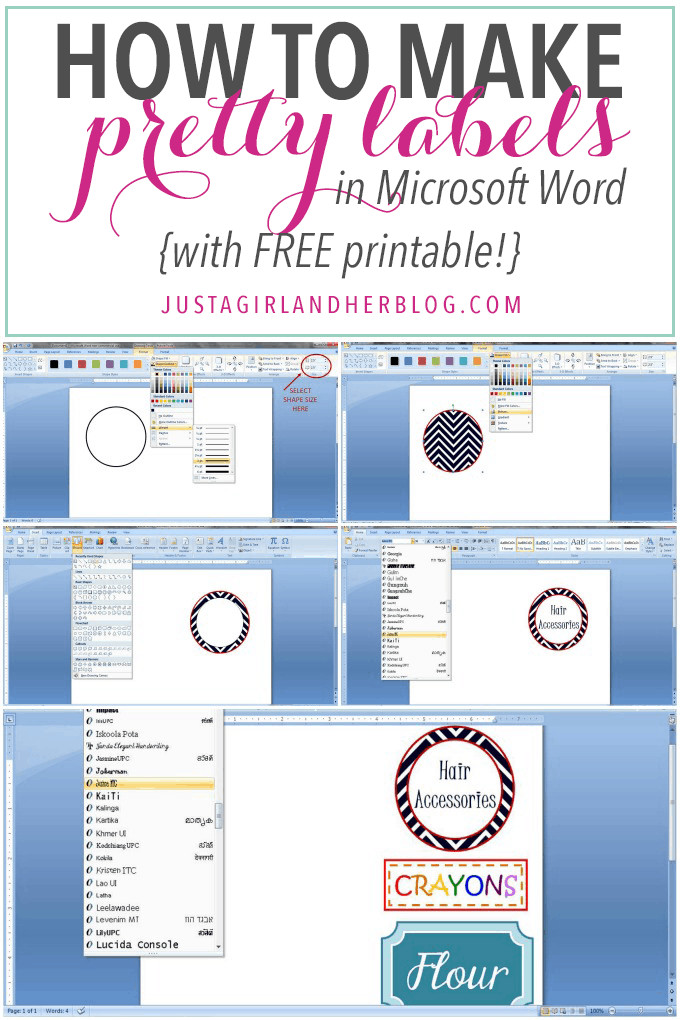 Label Template In Word How to Make Pretty Labels In Microsoft Word