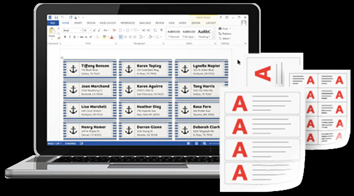 Label Templates In Word Avery Templates In Microsoft Word