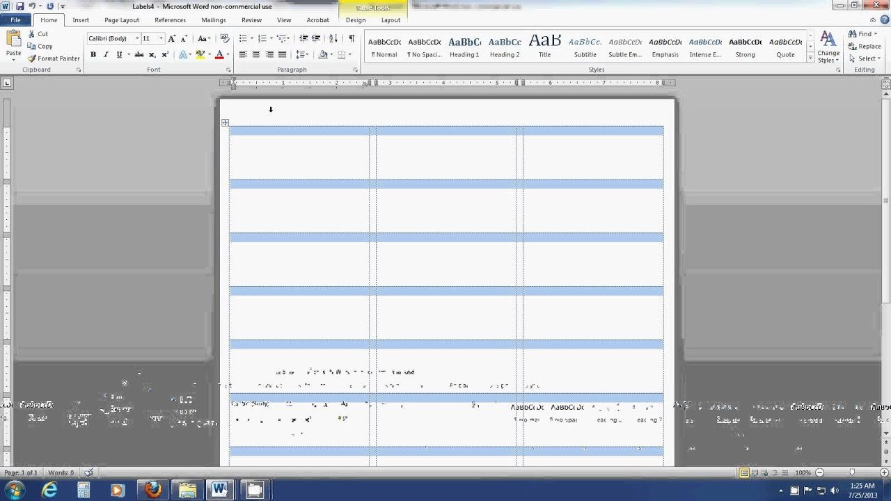 Label Templates In Word How to Insert An Image Into A Label Template Sheet In Word