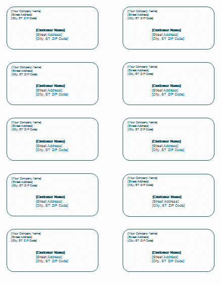 Label Templates In Word Shipping Label Template Templates for Microsoft Word