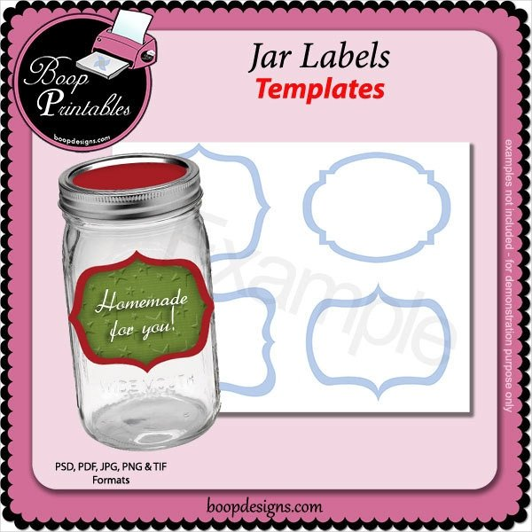 Labels for Jars Template 15 Jar Label Templates Free Psd Ai Vector Eps format