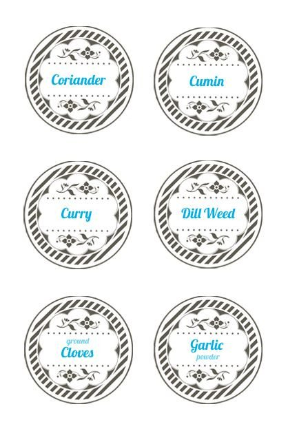 Labels for Jars Template Spice Jar Lid Labels Mason Jar Label Templates