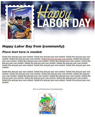 Labor Day Email Template Email Template Of the Week
