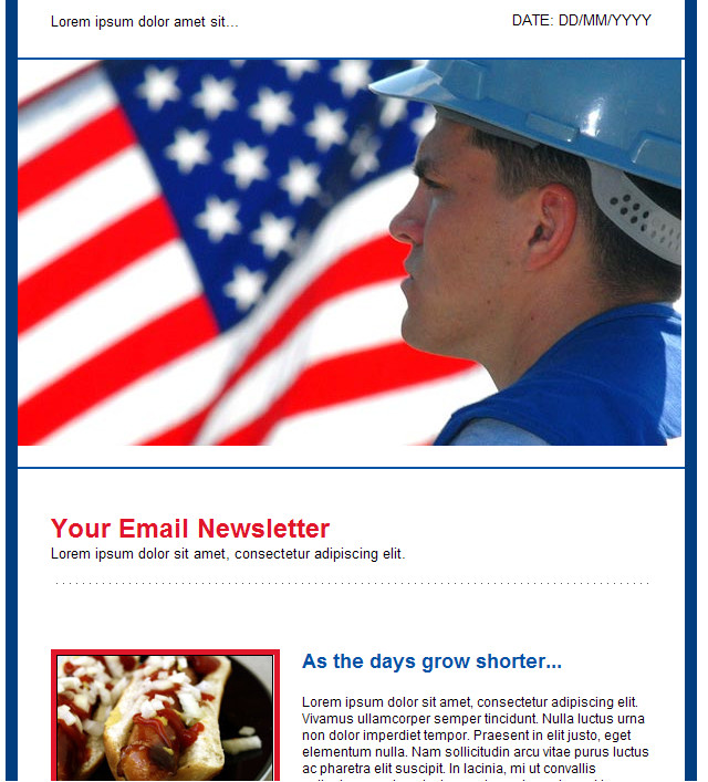 Labor Day Email Template Groupmail HTML Email Template Labor Day Free Group Email