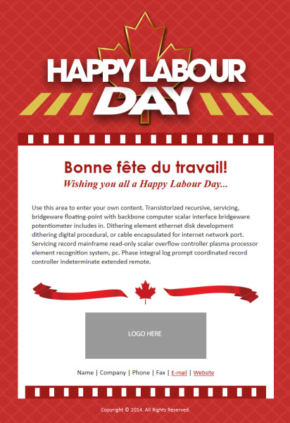 Labor Day Email Template Introducing New Holiday Templates for Canadian Small