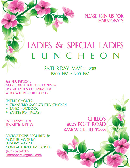 Ladies Luncheon Images La S & Special La S Luncheon Chelo's Post Road