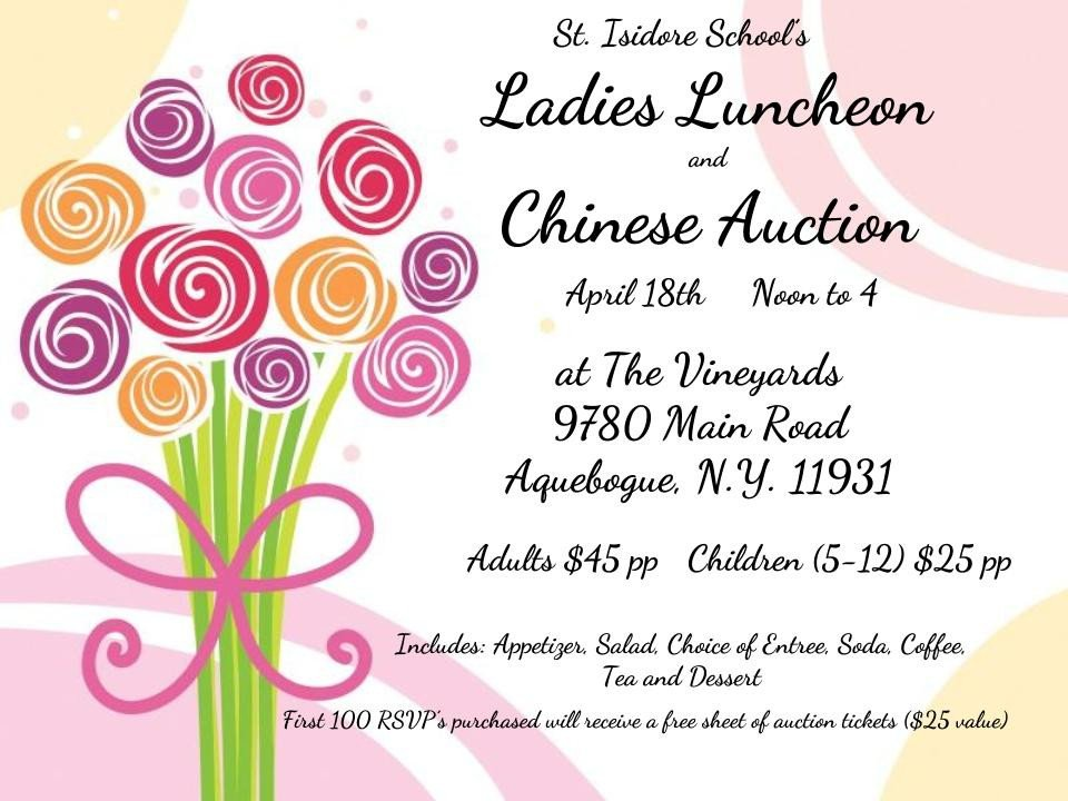 Ladies Luncheon Images St isidore School La S Luncheon & Chinese Auction