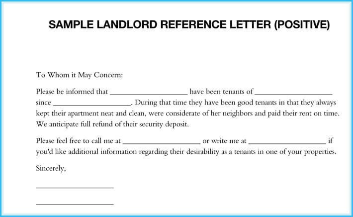 Landlord Letter Of Recommendation 5 Sample Landlord Reference Letters What is It & How to