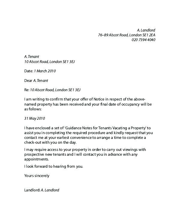 Landlord Reference Letter Sample 11 Notice Of Moving Out