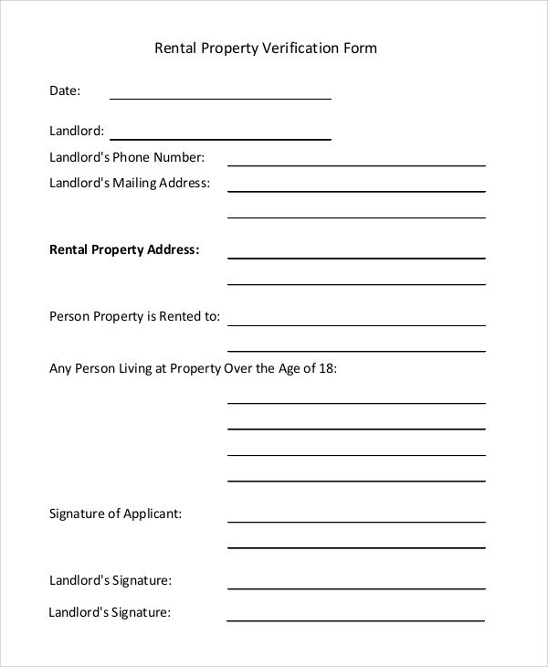 Landlord Verification form Template Landlord Verification form Template 11 Unbelievable Facts