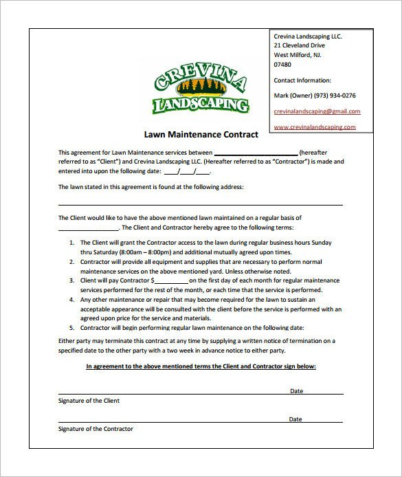 Landscaping Proposal Template Free Bid Proposal Template for Lawn Care Templates Resume