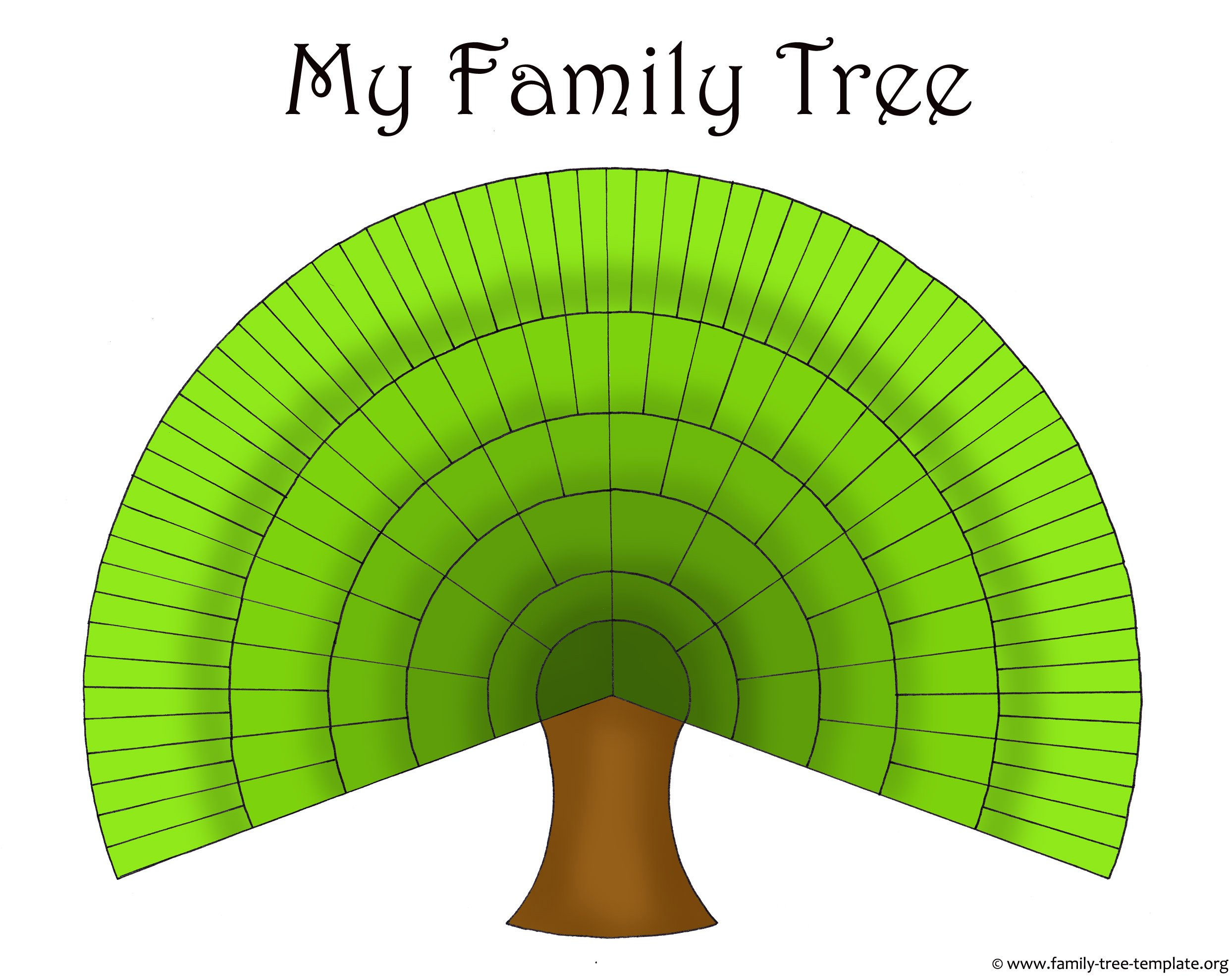 Large Family Tree Templates Blank Family Trees Templates and Free Genealogy Graphics