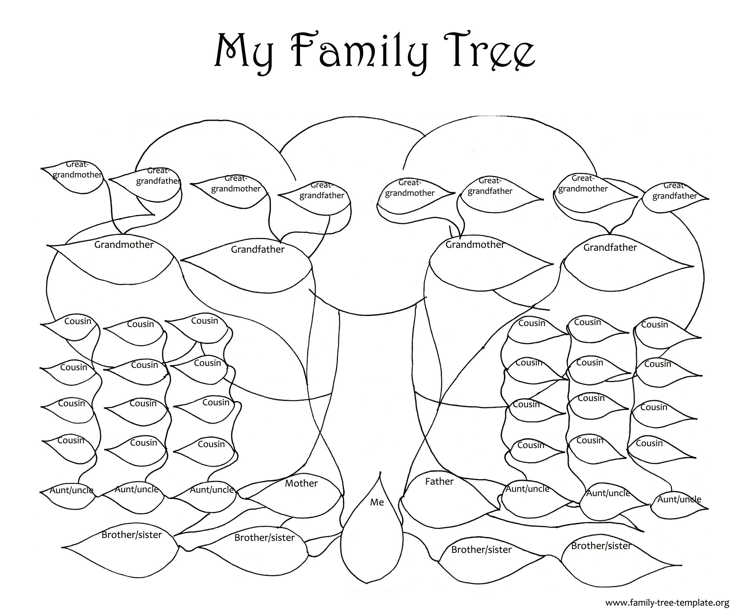 Large Family Tree Templates Family Tree Template Resources