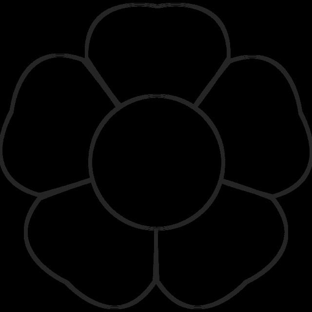 Large Flower Petal Template 5 Petal Flower Template Free Printable Printable Pages