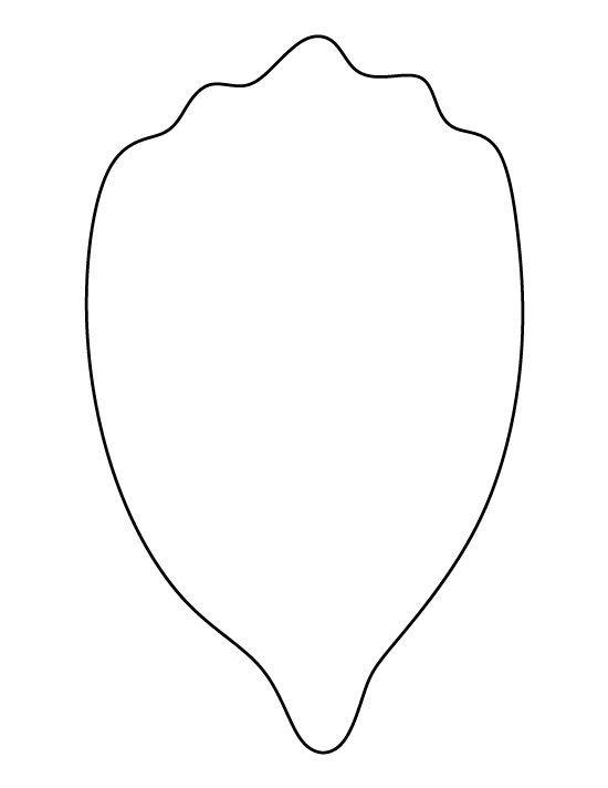 Large Flower Petal Template Flower Petal Pattern Use the Printable Outline for Crafts