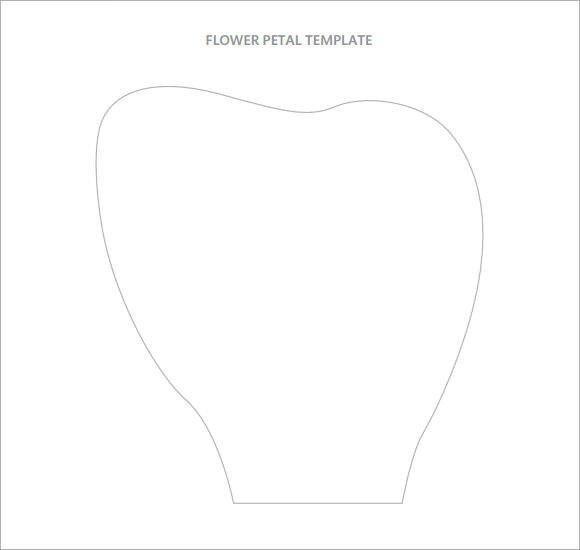 Large Flower Petal Template Flower Petal Template 9 Download Documents In Pdf Psd