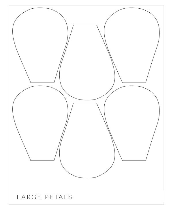 Large Flower Petal Template Printable Flower Templates Printable 360 Degree