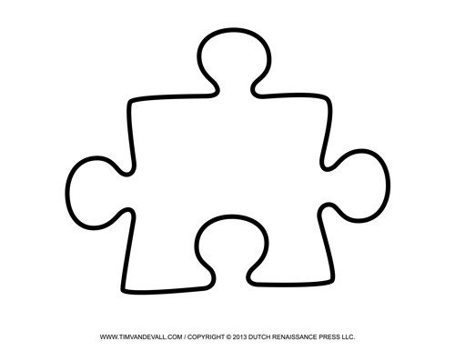 Large Puzzle Piece Template Blank Puzzle Piece Template Free Single Puzzle Piece