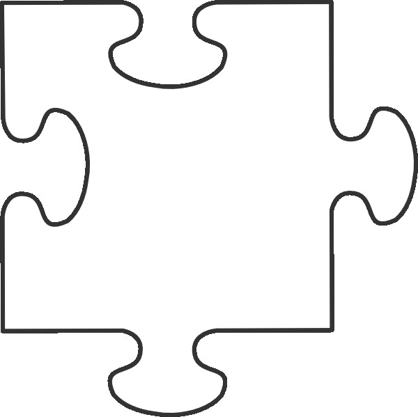 Large Puzzle Piece Template Blank Puzzle Pieces
