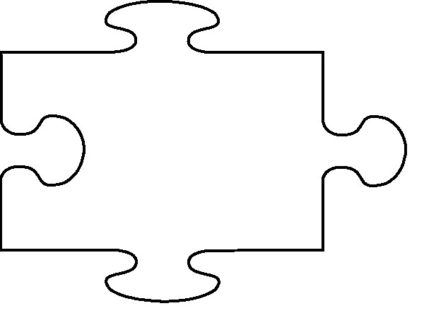 Large Puzzle Piece Template Free Puzzle Piece Template Download Free Clip Art