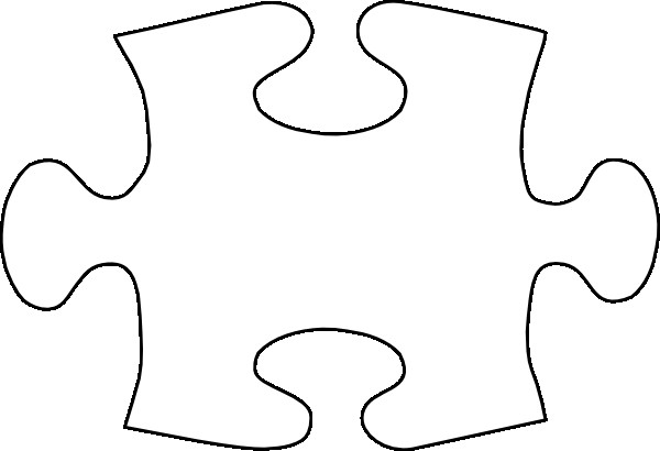 Large Puzzle Piece Template Jigsaw White Puzzle Piece No Shadow Clip Art at Clker