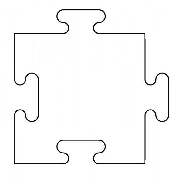 Large Puzzle Piece Template Printable Puzzle Piece Template