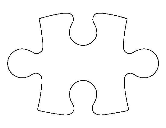 Large Puzzle Piece Template Puzzle Piece Pattern Use the Printable Outline for Crafts