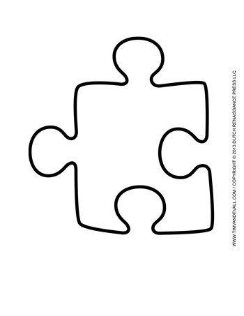 Large Puzzle Piece Template Puzzle Piece Template 5 Tim Van De Vall
